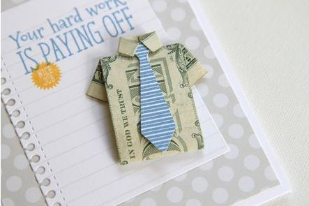 Graduation Origami Money Card