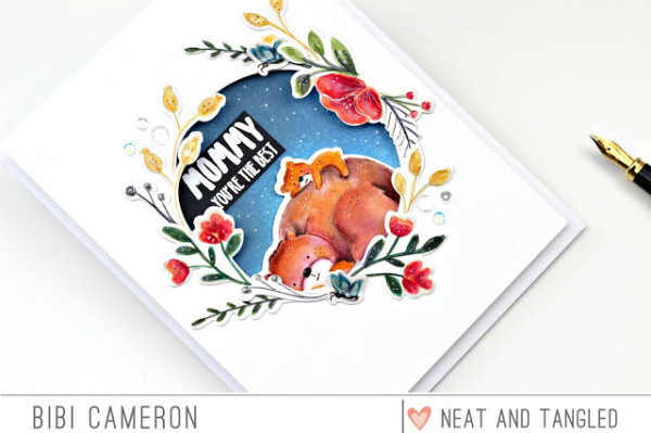 Die Cut Transfer Technique for a Mother's Day Card