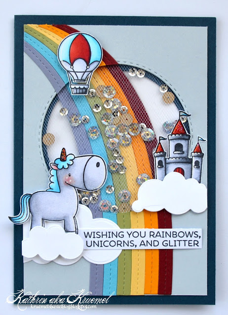 Unicorn Shaker Card with Tulle