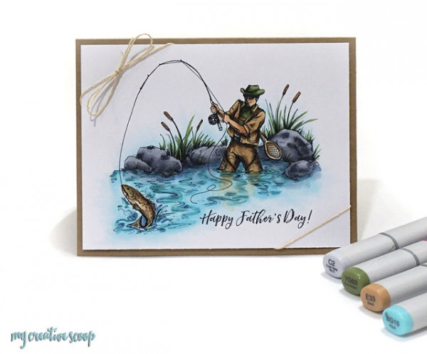 Copic Coloring for a Father's Day Fisherman