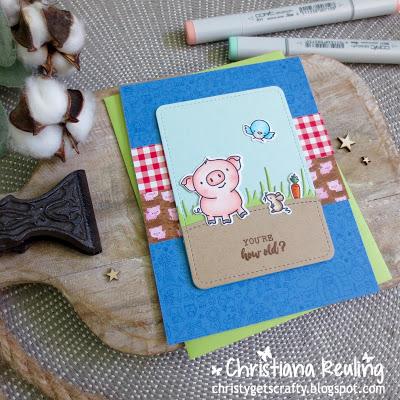 I Stamp Set used 4 Ways : Cute Pig Cards