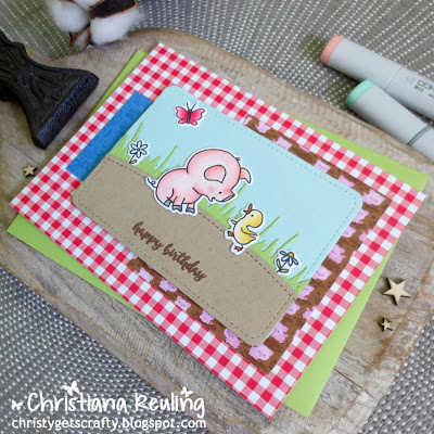 I Stamp Set used 4 Ways : Cute Pig Cards