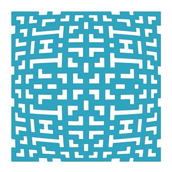 Geometric Background Downloadable Die Shape
