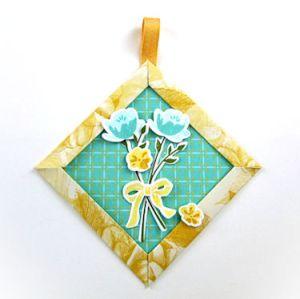 Mitered Corner Paper Ornament