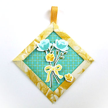 Mitered Corner Paper Ornament