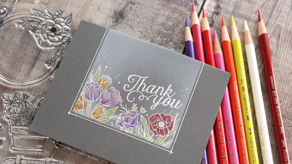 Colored Pencils on Dark Cardstock