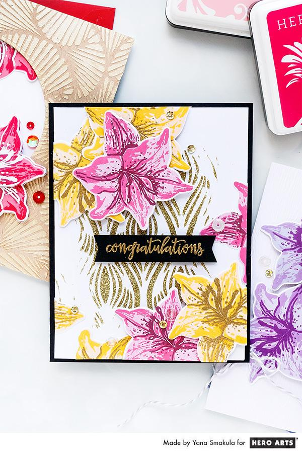 Tiger Lily Layering Stamps Cards