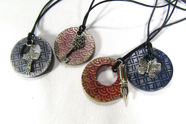 Stamped Wooden Pendants