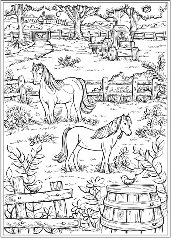 7 Country Life Coloring Pages – Stamping