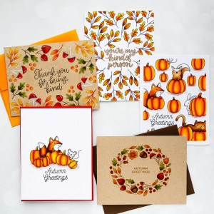 5 Fall One Layer Cards