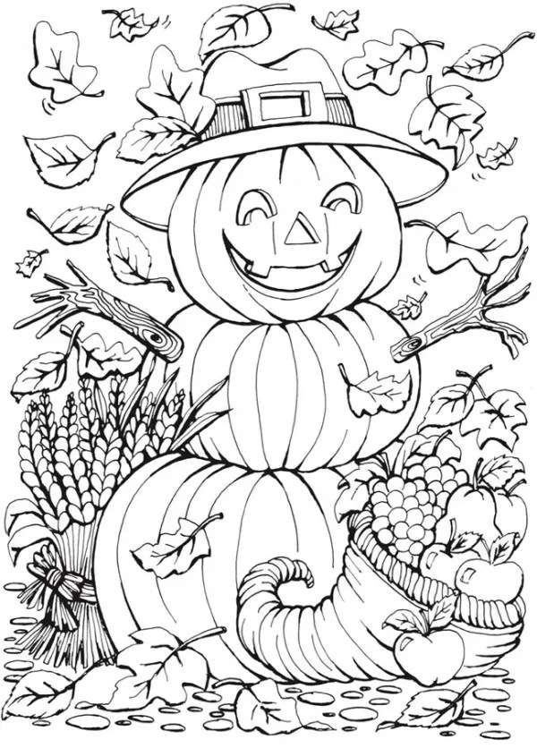 coloring pages fall themed - photo#1