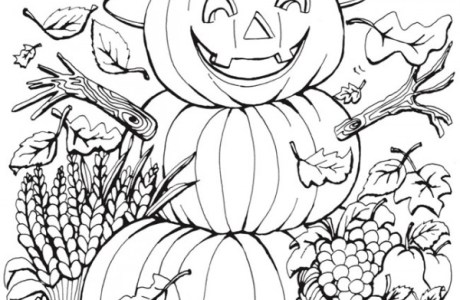 6 Fall Coloring Pages