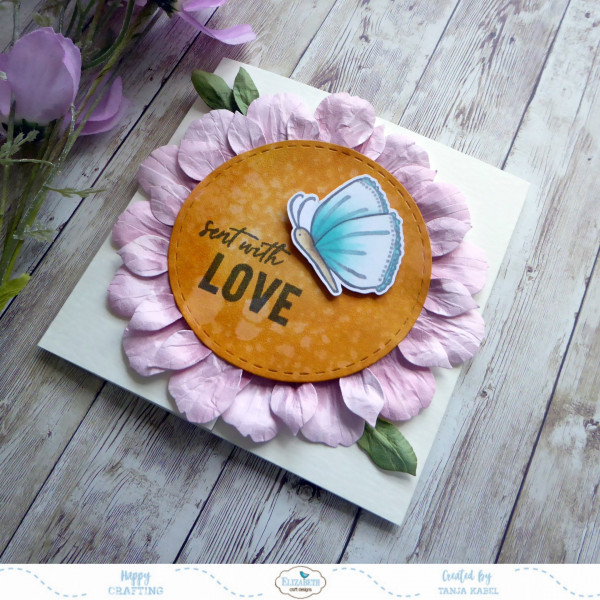 Large Flower Gatefold Card