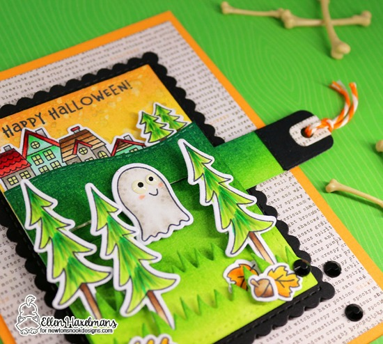Halloween Ghost Slider Card