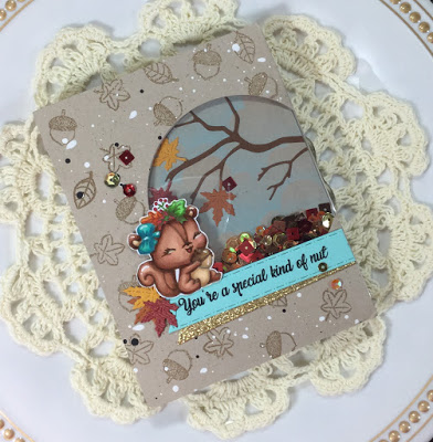 Fall Squirrel Shaker Card