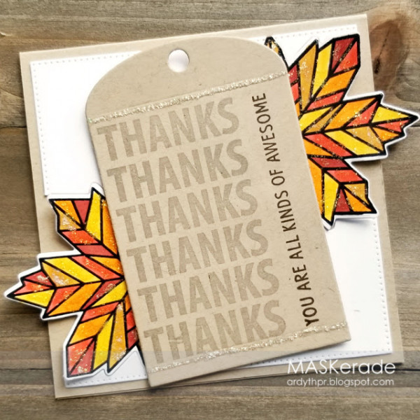 Modern Fall Leaves Card