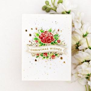 Elegant Floral Christmas Card