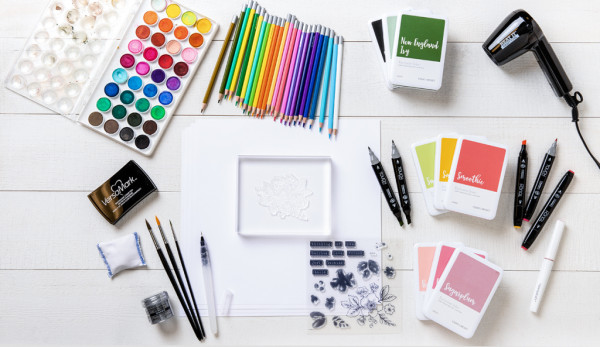 8 Ways to Color Stamps