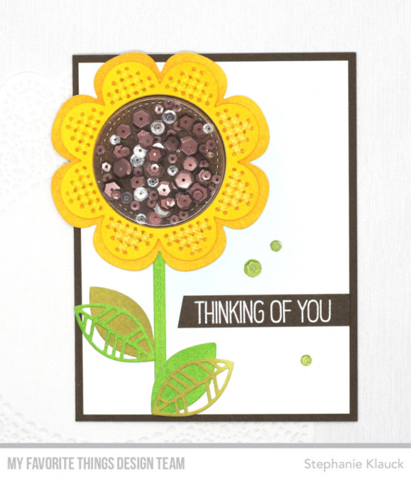 Sunflower Shaker Card