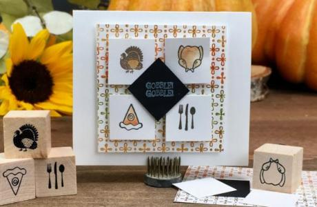 Fall Cards with Tiny Stamps