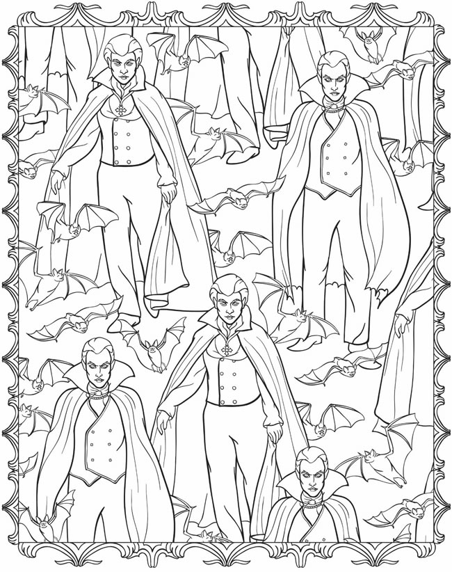 6 Halloween Coloring Pages