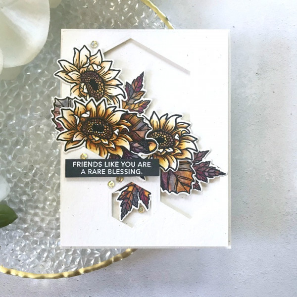 Autumn Sunflowers Watercolor Card