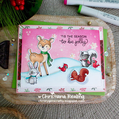 Woodland Animals Winter Scene Card