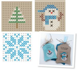 Christmas Cross Stitched Tag Patterns