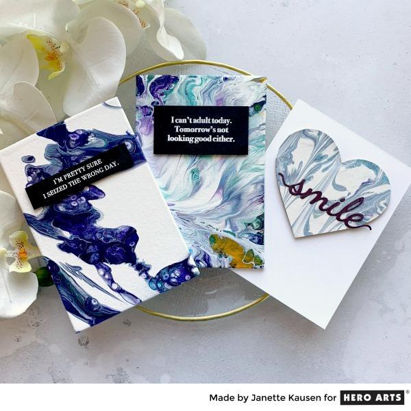 Acrylic Pour Cards