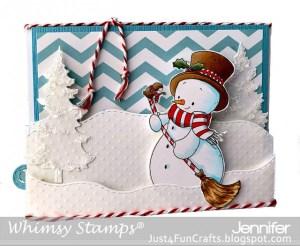 Snowman Sweeper Card