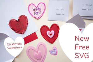 Classroom Valentines Cut Files