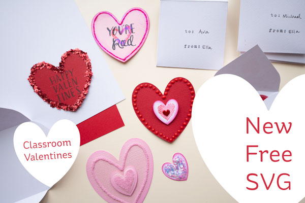 Classroom Valentines Cut Files