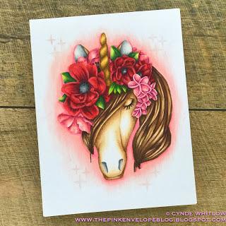 Unicorn Card Coloring