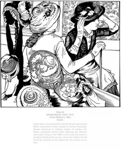 4 Degas Coloring Pages