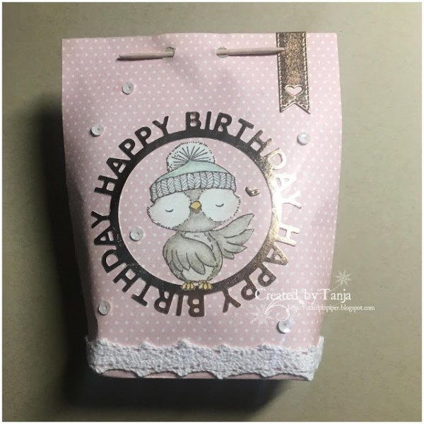 Paper Gift Bag with Chopstick Closure