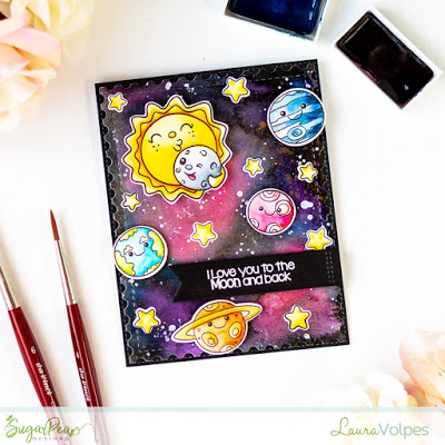 Galaxy Valentine Card