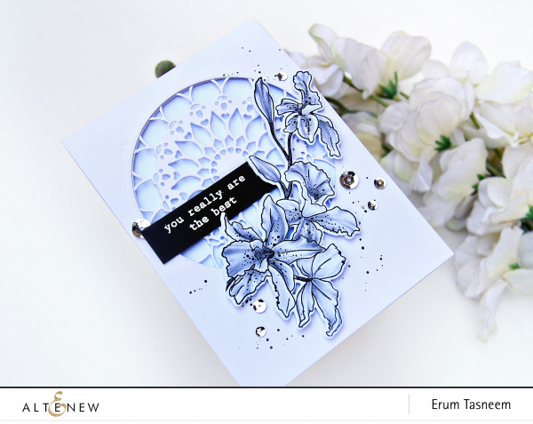 Floral Card with Pencil Shading