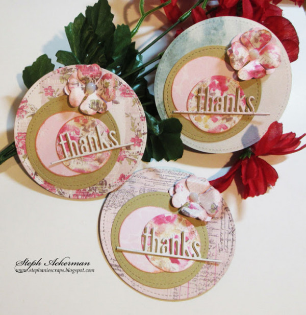 Round Shaped Thank You Cards