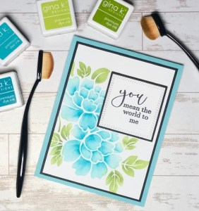 Shaded Stencil Cards