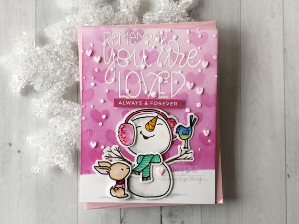 Snowman Valentine Day Card