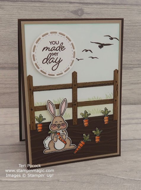 Bunny in the Carrot Patch Card