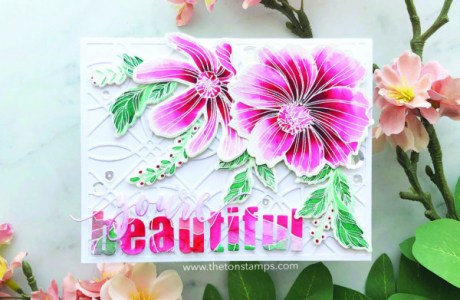 Pink and White Flowers Card