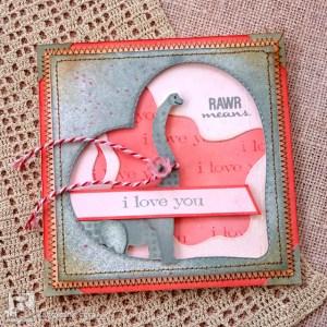 Dino Valentine Card