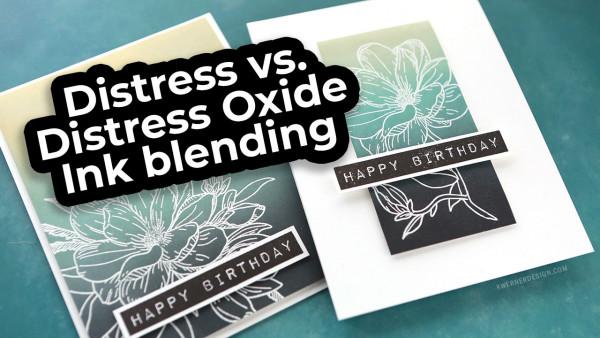 Ink Blending: Distress vs Oxide Inks