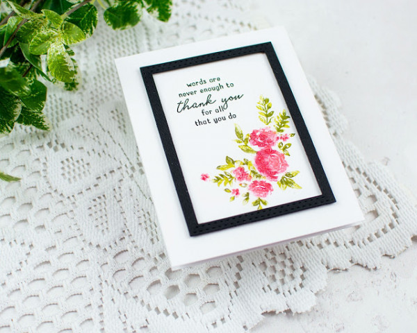 Floral Card with Faux Painting Technique