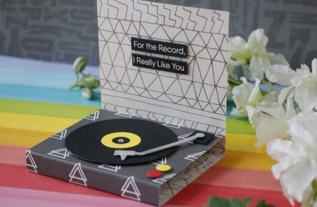 Record Player Pop Up Card
