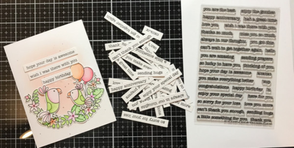 Stamped Sentiments Strips Tip