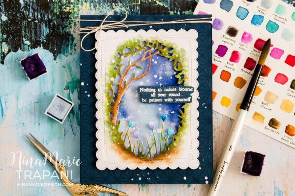 How to Watercolor Die Cuts