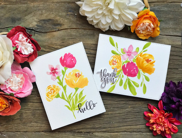 Floral Watercolor Cards
