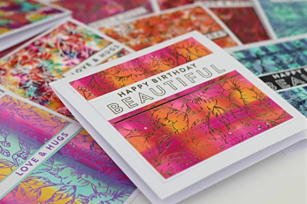 Cards with Alcohol Ink Backgrounds
